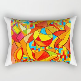 Orange Mayhem Rectangular Pillow
