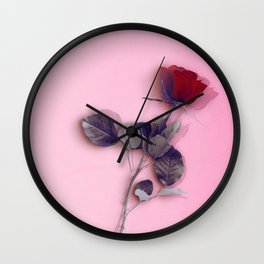 LA ROSE ROUGE Wall Clock