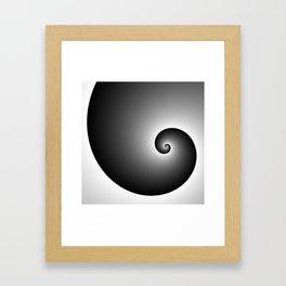 Swirly black Framed Art Print