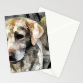 Labradors fun in the mud Stationery Cards