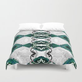 Resonant Jade Chamber of the Mind Duvet Cover