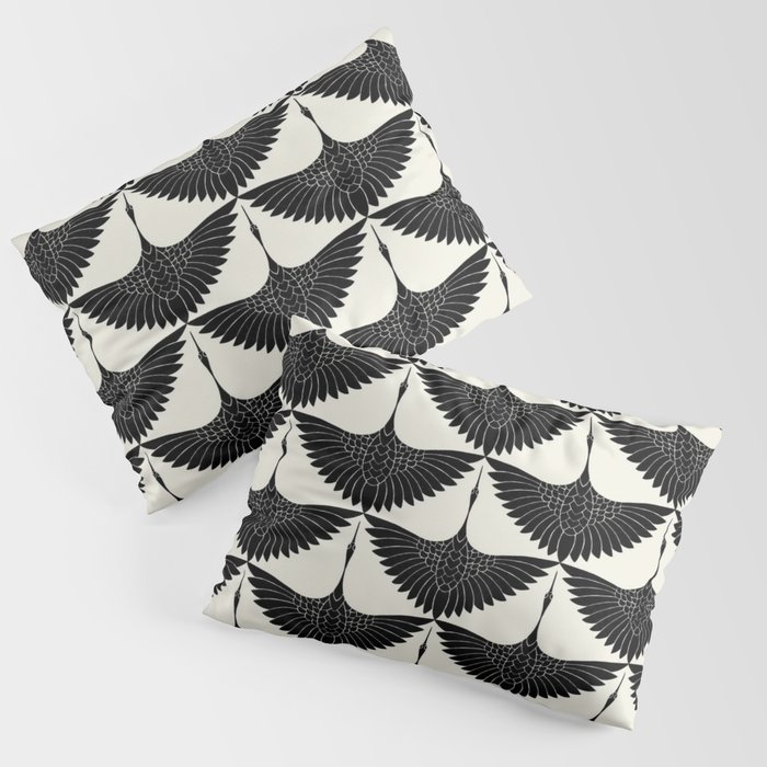 CRANE DESIGN - pattern - Black and White Kissenbezug