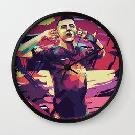 Mason Mount on WPAP Pop Art Portrait Wall Clock