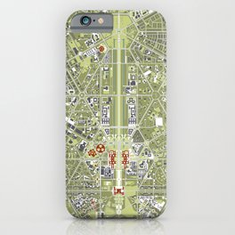 New Delhi map engraving iPhone Case