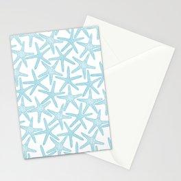 Light starfish pattern Stationery Cards