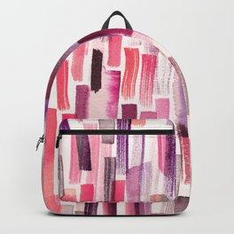 Coral brushstrokes watercolor Backpack
