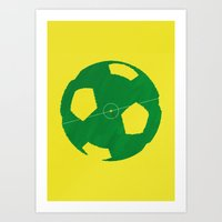 soccer Art Prints featuring Soccer by AJAN