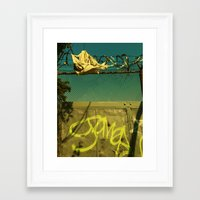 the wire Framed Art Prints featuring Wire by RoccoBrovo