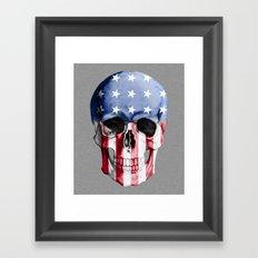 American Skull Framed Art Print