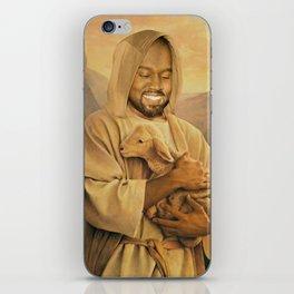 Mr. West cradles lost lamb iPhone Skin