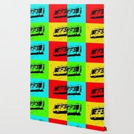 Cassettes Square Wallpaper