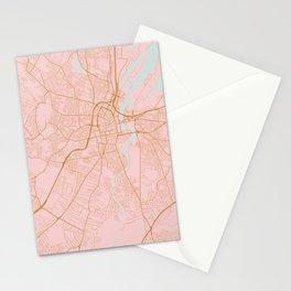 Belfast map, Northern Ireland Stationery Cards