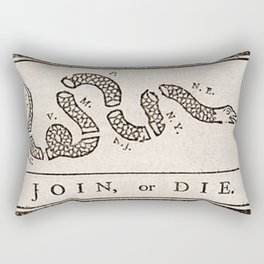 Join Or Die By Ben Franklin Rectangular Pillow
