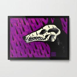 Loved to Death Metal Print