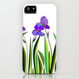 Large Purple Irises iPhone Case