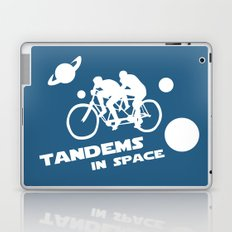 Tandems in Space in Blue Laptop & iPad Skin