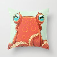 Goldie the Octopus Throw Pillow