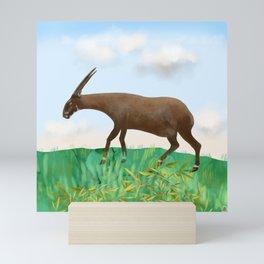 Saola - the Asian Unicorn - rarest animal on Earth Mini Art Print