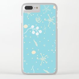 Cozy Winter Clear iPhone Case