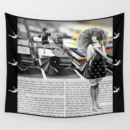The Parasol Girl and The Parrot Wall Tapestry