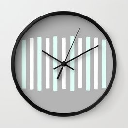 Simple Blue and White Stripes Wall Clock