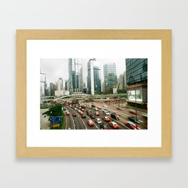 Hong Kong Traffic Framed Art Print