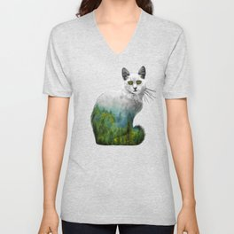 Forest in a cat Unisex V-Neck