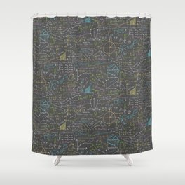 Math Lesson Shower Curtain