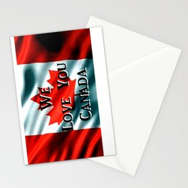 We Love You Canada Stationery Cards