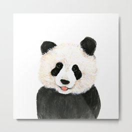 naughty little panda Metal Print