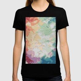 Brush Strokes Abstract Art Design T-shirt