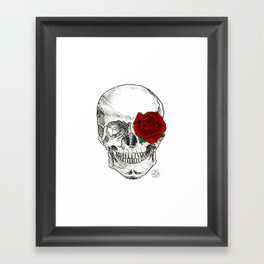 Rose Skull Framed Art Print