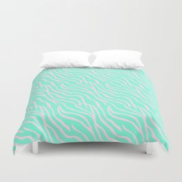 Green zebra Duvet Cover