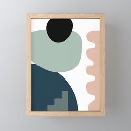 Shape study #18 - Stackable Collection Framed Mini Art Print