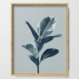 Ficus Elastica Finesse #1 #tropical #foliage #decor #art #society6 Serving Tray