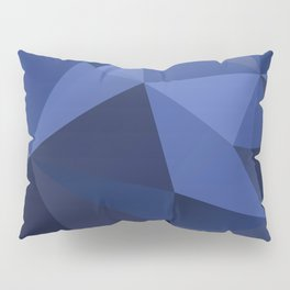 Abstract of triangles polygon in navy blue colors Pillow Sham