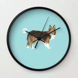 sheltie funny farting dog breed pure breed pet gifts Wall Clock