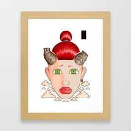 Horned Girl Framed Art Print