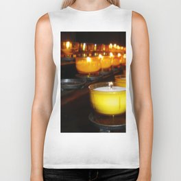 Church Candles Biker Tank