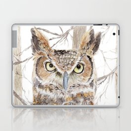 """Watercolor Painting of Picture """"Owl in the Forest"""" Laptop & iPad Skin"""