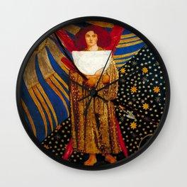"Dante Gabriel Rossetti ""Dantis Amor (Dante's Love)"" (III) Wall Clock"