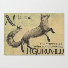 Alphabestiary N - Nguruvilu Canvas Print