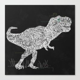 Lace Rex Canvas Print