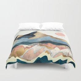 Golden Peaks Duvet Cover
