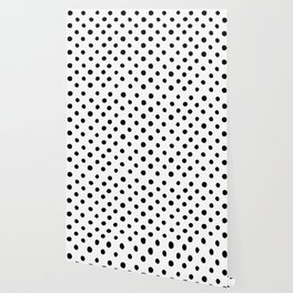 Modern Handpainted Abstract Polka Dot Pattern Wallpaper