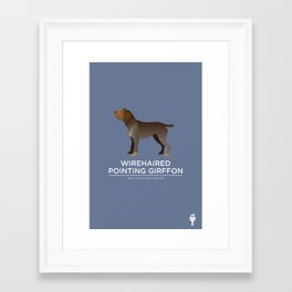 Wirehaired Pointing Griffon Framed Art Print