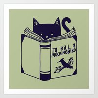 to kill a mockingbird Art Prints featuring How To Kill a Mockingbird by Tobe Fonseca