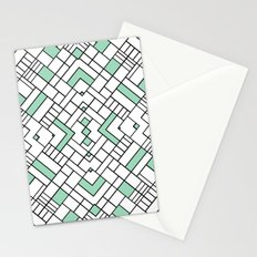 PS Grid 45 Mint Stationery Cards