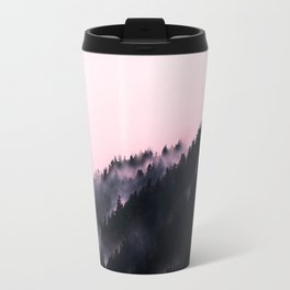 Watercolour Pink Fog Forrest Travel Mug