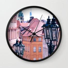 Pink Prague Wall Clock